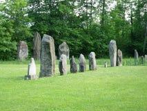 Magische Plaats in het Keltische Megaliet van Zwitserland Stock Fotografie