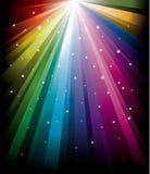 Magische radiale Regenboog Stock Afbeeldingen