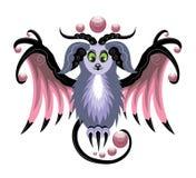 Magische ram met vleugels Royalty-vrije Stock Afbeelding