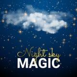 Magische Raumwolke Feenhafter Staub-Zusammenfassungs-Universum-Hintergrund Stockfotos