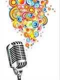 Magische retro microfoon Royalty-vrije Stock Afbeelding