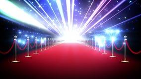 Magische rode tapijtlijn royalty-vrije illustratie