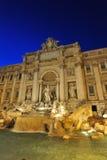 Magische roman nachten in Fontana Di Trevi royalty-vrije stock afbeelding