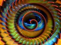 Magische ruimte spiraalvormige achtergrond Royalty-vrije Stock Afbeelding