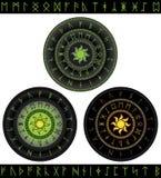 Magische Runen Stockbild