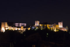 Magische 's nachts Alhambra Granada, Andalusia, Spanje Stock Fotografie