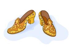 Magische schoenen Stock Foto