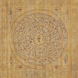 Magische sigil met Egyptische hiërogliefen Royalty-vrije Stock Afbeeldingen