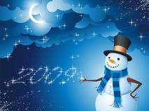 Magische sneeuwman Royalty-vrije Stock Afbeeldingen