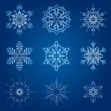 Magische sneeuwvlokken Royalty-vrije Stock Fotografie