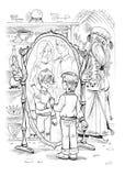 Magische spiegel Royalty-vrije Stock Foto's