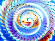Magische spiraalvormige illustratieachtergrond vector illustratie