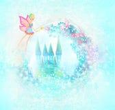 Magische Sprookjeprinses Castle Stock Foto's