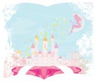 Magische Sprookjeprinses Castle Stock Afbeelding