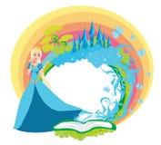 Magische Sprookjeprinses Castle - kader Stock Afbeelding