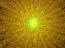 Magische ster Abstracte gele fractal samenstelling Stock Afbeeldingen