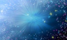 Magische sterachtergrond vector illustratie