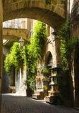 Magische Straße in Orvietto, Toskana, Italien Stockfotos