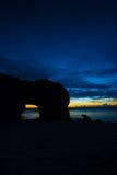 Magische Stunde in SUNAYAMA-Strand Stockfotos