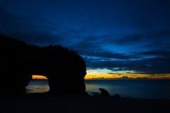 Magische Stunde in SUNAYAMA-Strand Lizenzfreie Stockbilder