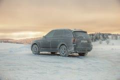 Magische Szene des Winters auf Semenic-Berg Rumänien Lizenzfreies Stockfoto
