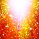 Magische uitbarsting met sterren en muzieknota's Royalty-vrije Stock Fotografie