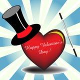 Magische Valentijnskaart Royalty-vrije Stock Afbeeldingen
