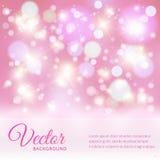 Magische vectorachtergrond met kleurrijke bokeh Stock Foto