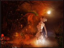 Magische vijver royalty-vrije illustratie