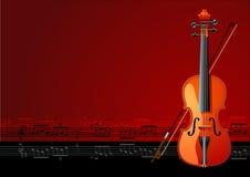 Magische viool Stock Afbeeldingen