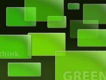 Magische Würfel - denken Sie Grün Stockbild