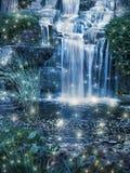 Magische Waterval Stock Afbeelding