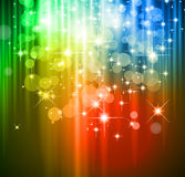 Magische Waterval van lichten vector illustratie