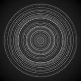 Magische witte ringen met kleine parels op een donkere achtergrond het 3d teruggeven Royalty-vrije Stock Afbeelding
