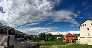 Magische wolken stock foto's