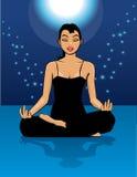 Magische yoga Royalty-vrije Stock Afbeeldingen