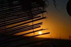 Magische zonsondergang stock fotografie