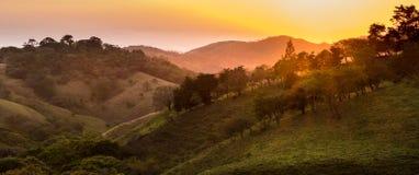 Magische zonsondergang Royalty-vrije Stock Afbeeldingen