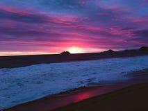 Magische zonsondergang bij Kerstmis Stock Afbeelding