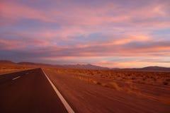 Magische Zonsondergang - Zoutmeren grandes/grote salines - salta & jujuy, Argentinië stock foto's