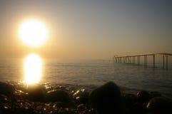Magische zonsopgang op de bank van Middellandse Zee Royalty-vrije Stock Fotografie