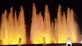 Magischer Brunnen Barcelona Stockbild