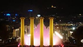 Magischer Brunnen Barcelona Lizenzfreies Stockfoto