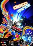 Magischer Disco-Musik-Ereignis-Hintergrund Stockfotos
