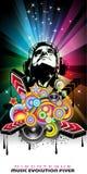 Magischer Disco-Musik-Ereignis-Hintergrund Stockfoto