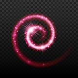 Magischer glänzender gewundener Hintergrund des Lichteffektes stock abbildung