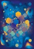 Magischer hellblauer abstrakter Hintergrund Stockfotos