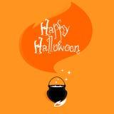 Magischer Hexengroßer kessel Halloweens stock abbildung