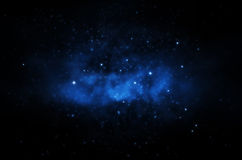 Magischer Hintergrund des nächtlichen Himmels Lizenzfreie Stockfotos