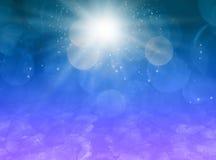 Magischer Hintergrund des Sternstaubes stock abbildung